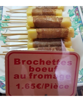 Brochette boeuf au fromage