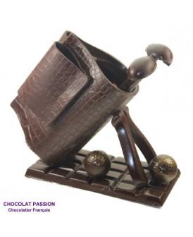 CADDIE DE GOLF en chocolat