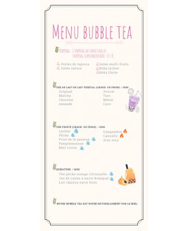 Menu Bubble Tea - 38° Tea